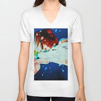 spirited away V-neck T-shirts featuring Spirited Away by ALynnArts