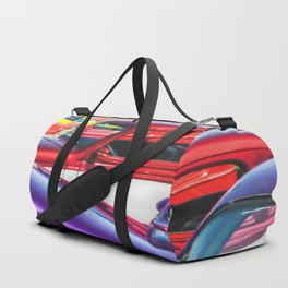 Candy Color Hot Rods, Tasty Automotive Art by Murray Bolesta Duffle Bag