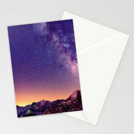 Sunset Mountain #stars Stationery Cards
