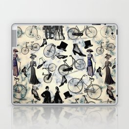 Victorian Bicycles and Fashion Laptop & iPad Skin