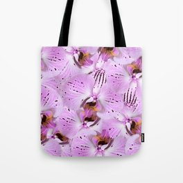 Plum Orchids Tote Bag