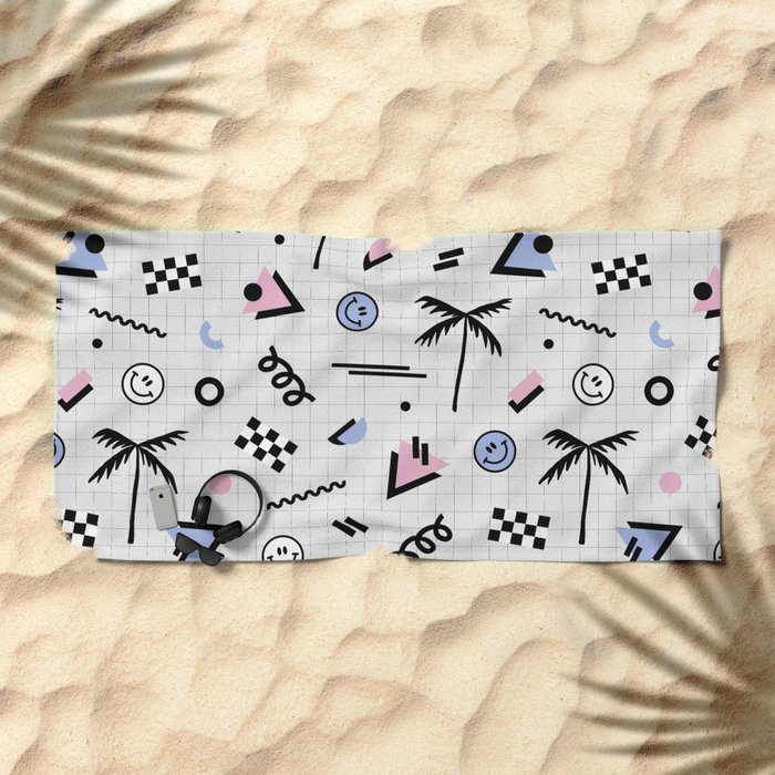 Smiley faces all day Beach Towel
