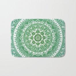 Green Mandala Pattern Bath Mat