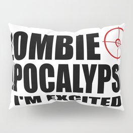 zombie funny sayings and logos Pillow Sham