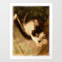 Curious Cat Art Print