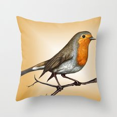 Robin bird Throw Pillow