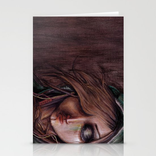 Disturbance of the pain-sensitive structures in my head Stationery Cards
