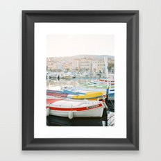 La Ciotat - Boats Framed Art Print