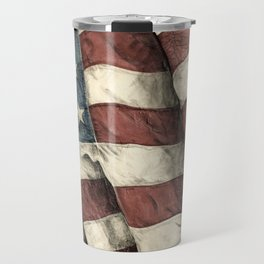 Stars 'n' Stripes - Antiqued Travel Mug