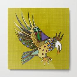 jewel eagle chartreuse Metal Print