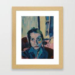 Blue Living Room  Framed Art Print