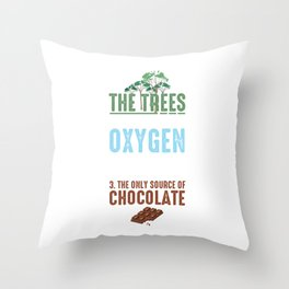 Reasons To Save The Trees Environmental Ecosystem Nature Lovers Gifts Throw Pillow