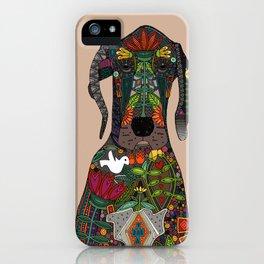 Great Dane love beige iPhone Case