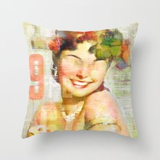 The girl of the 9th floor Throw Pillow
