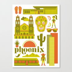 Phoenix in Chartreuse Canvas Print
