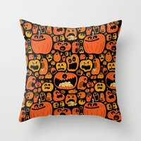 pumpkin Throw Pillows featuring Pumpkin Pattern by Chris Piascik