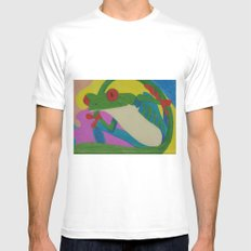 Tree Frog MEDIUM Mens Fitted Tee White