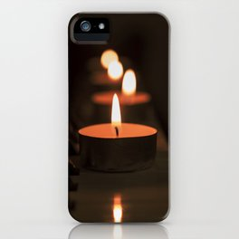 Candles on the piano iPhone Case