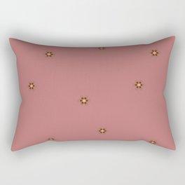 Asterix Font Flowers Rectangular Pillow