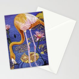 Flamingo oil painting  Stationery Cards