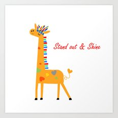 Tribal Giraffe Art Print