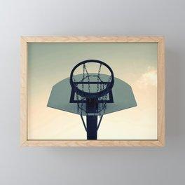 Basketball Sunset Framed Mini Art Print