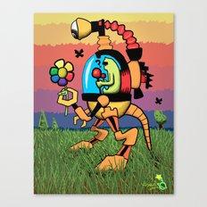 Odd Reynbow Encounter Canvas Print