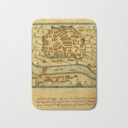 Map Of Seville 1602 Bath Mat