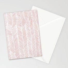 Living Coral Herringbone Stationery Cards