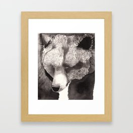 Bear in ink Framed Art Print