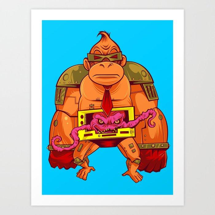 Donkey Krang v. 1.0 Art Print