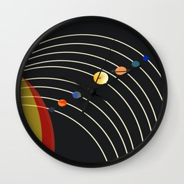 Minimalistic Planet Chart Wall Clock