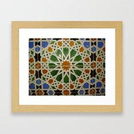 Colorless Tiles Framed Art Print