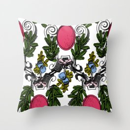 Corinthian Grapes Throw Pillow