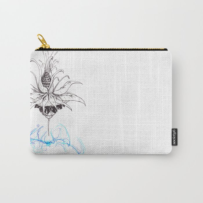 Pineapple Flower Carry-All Pouch