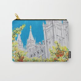 Salt Lake City Utah LDS Temple Carry-All Pouch