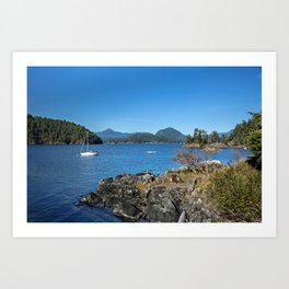 Bays and islands of the northern sea Art Print