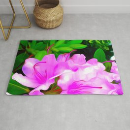 Painted Rhododendron - Pink 2 Rug