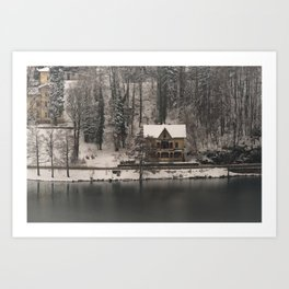 House On Lake Bled Art Print