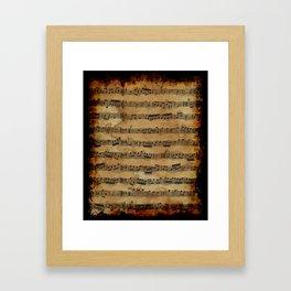 Grunge Sheet Music Music-lover's Design Framed Art Print