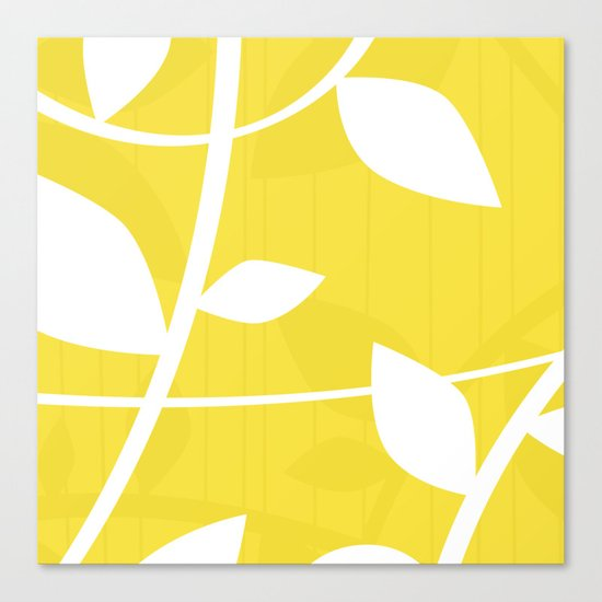Vine in Yellow by Friztin Canvas Print