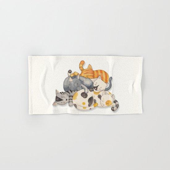 Cat Nap (Siesta Time) Hand & Bath Towel