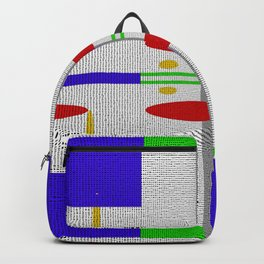 Shades of grey with different colors Backpack