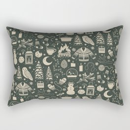 Winter Nights: Forest Rectangular Pillow
