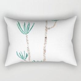 indoor palm tree watercolor Rectangular Pillow