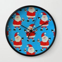 Happy Santas Wall Clock