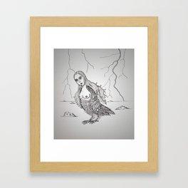 My-thology, the Harpy Framed Art Print