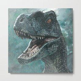 Jurassic Raptor Metal Print