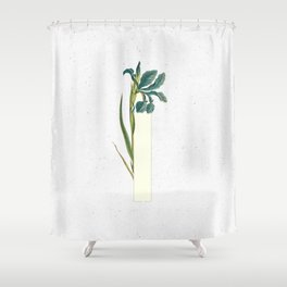 Letter 'I' Monogram Shower Curtain