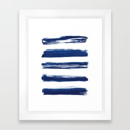 Indigo Brush Strokes | No. 2 Framed Art Print